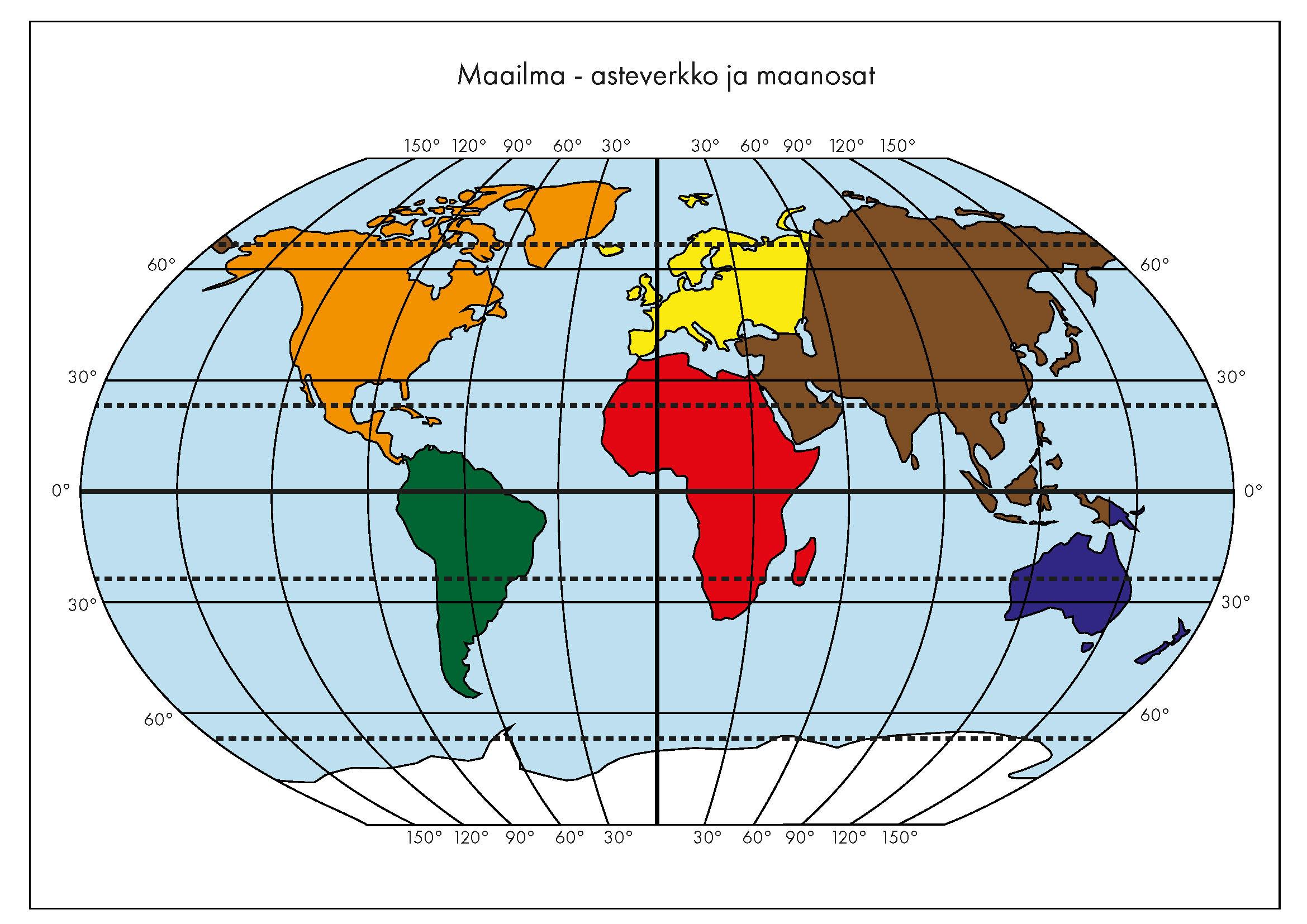 Maailma-asteverkko-maanosat